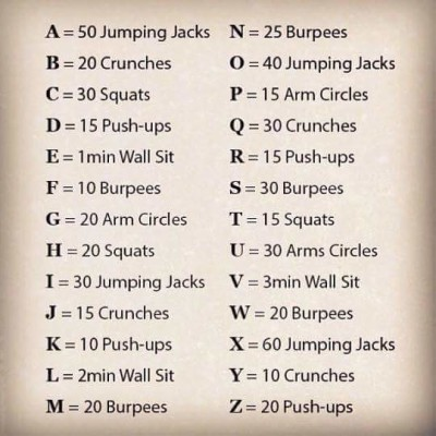 alphabetworkout